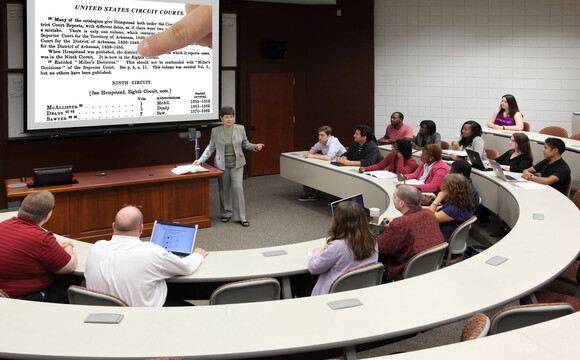 Classroom at The Center for Legal and Court Technology (CLCT)
