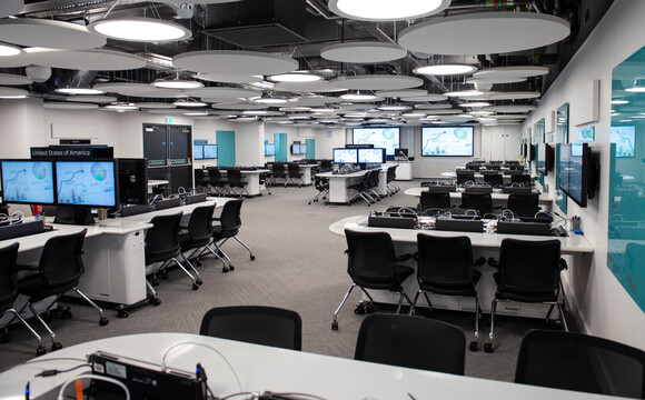 Each workstation has two Cynap Cores, and the screens in the room are grouped as either left or right, enabling a lecturer to send content to either the right or left-hand display screens.