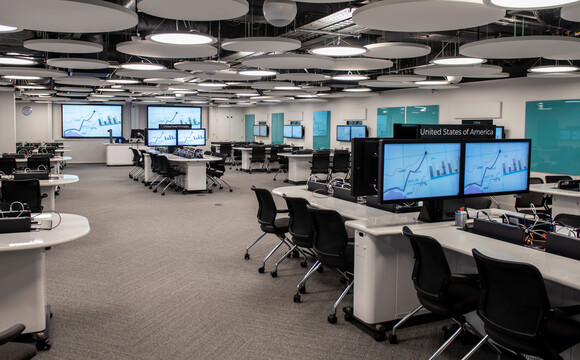 Active learning classroom at London Business school