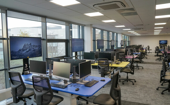 Active learning collaborative classroom at the University of Dundee