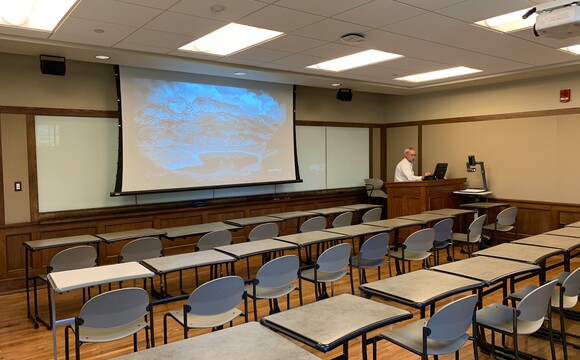 Cynap systems are also installed in traditional style classrooms providing a consistent user experience for instructors whatever the classroom layout