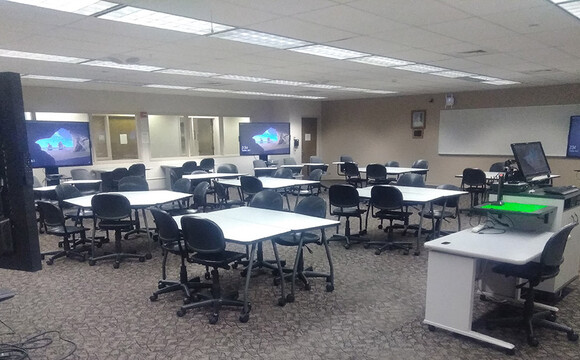 Active learning classroom at Washington State University