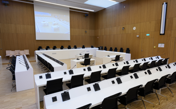 Stadelheim high security courtroom, Munich