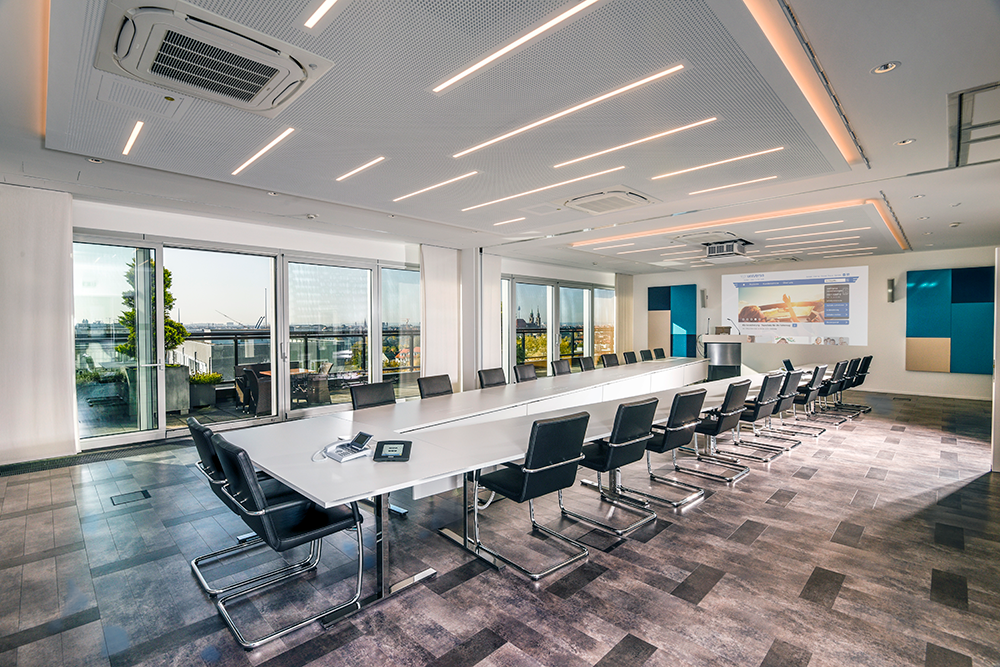 View of the new executive boardroom at uniVersa Insurance, Nürnberg, Germany