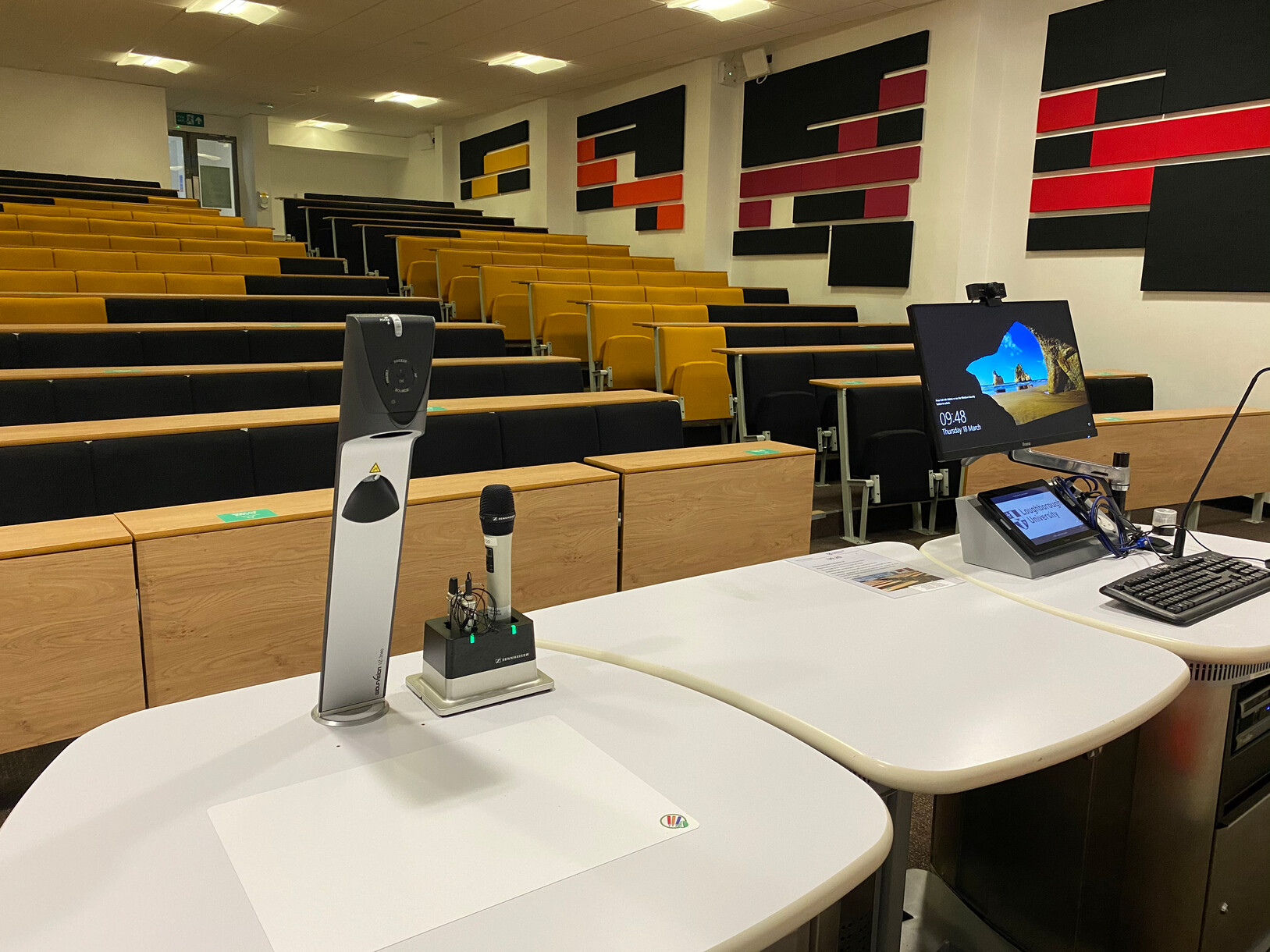 WolfVision Visualizer mounted directly onto the lectern at Loughborough University.