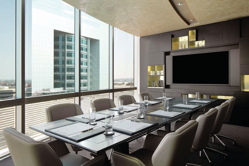 WolfVision Cynap equipped Business Centre at Jumeirah Emirates Towers Hotel, Dubai.