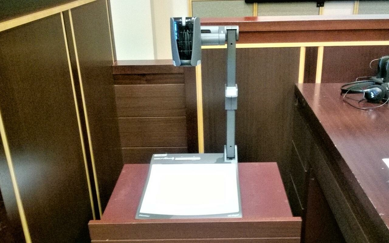 Around 30 courtrooms are currently equipped with Cynap systems, together with WolfVision VZ-8light4 Visualizers.