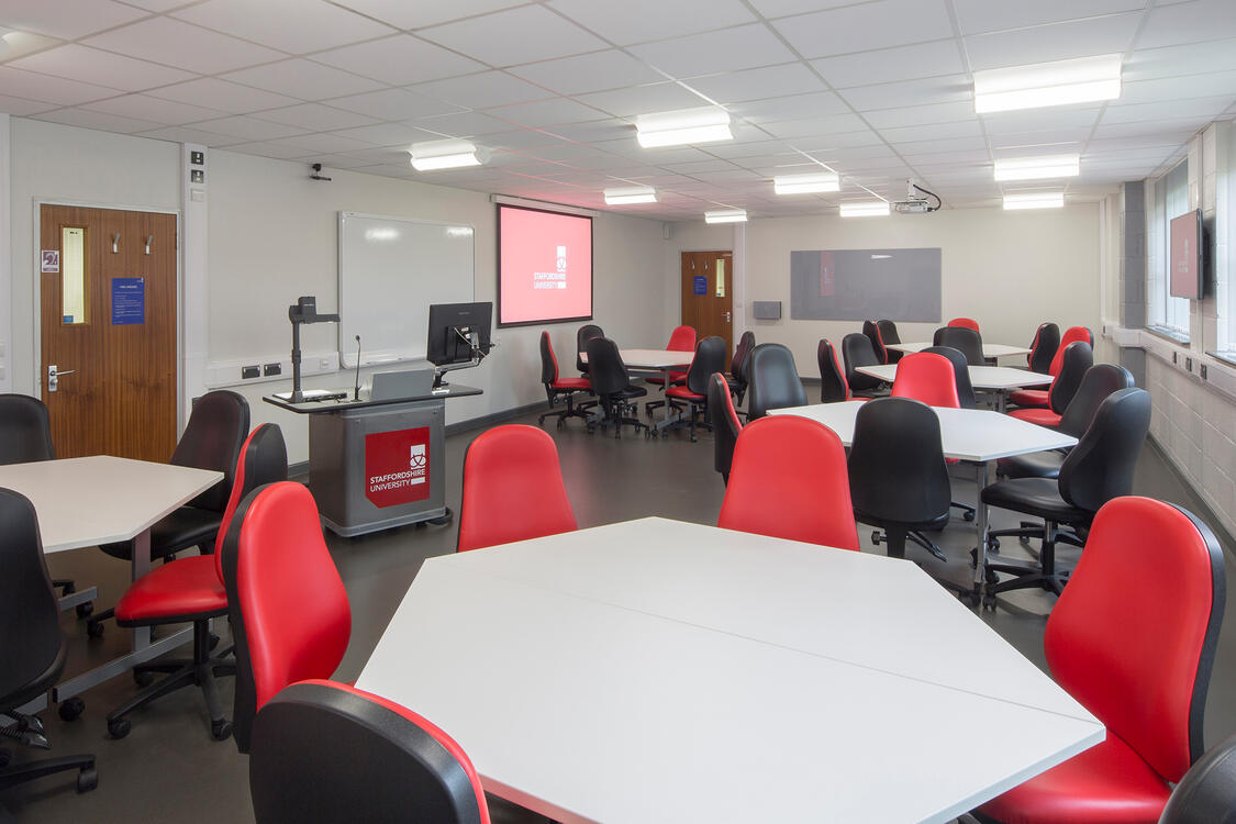 Active learning collaborative classroom at Staffordshire University