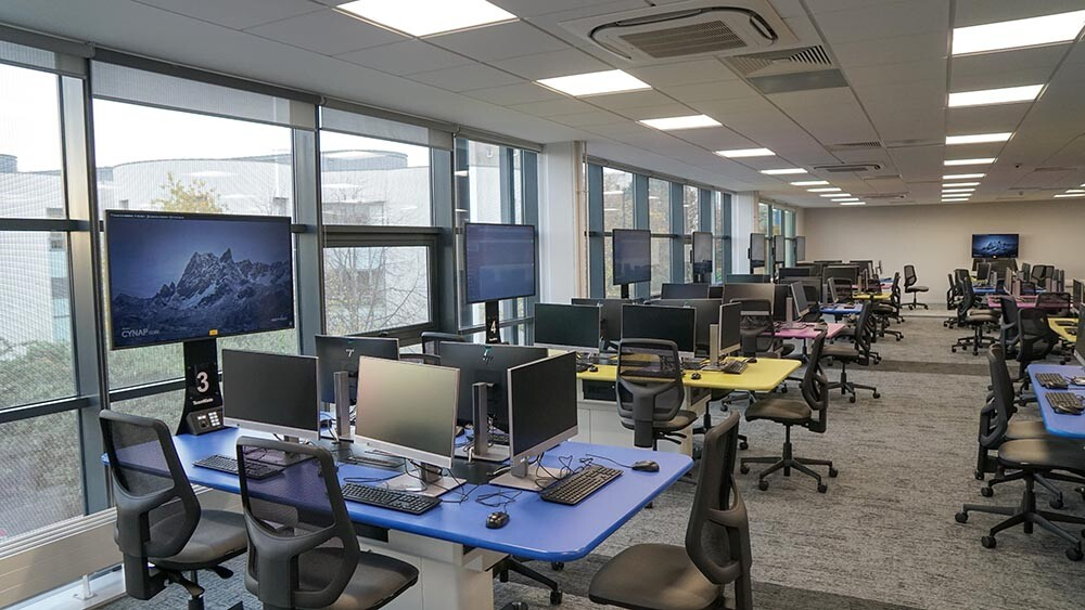 Multi-functional active learning collaboration room, University of Dundee, Dalhousie Building