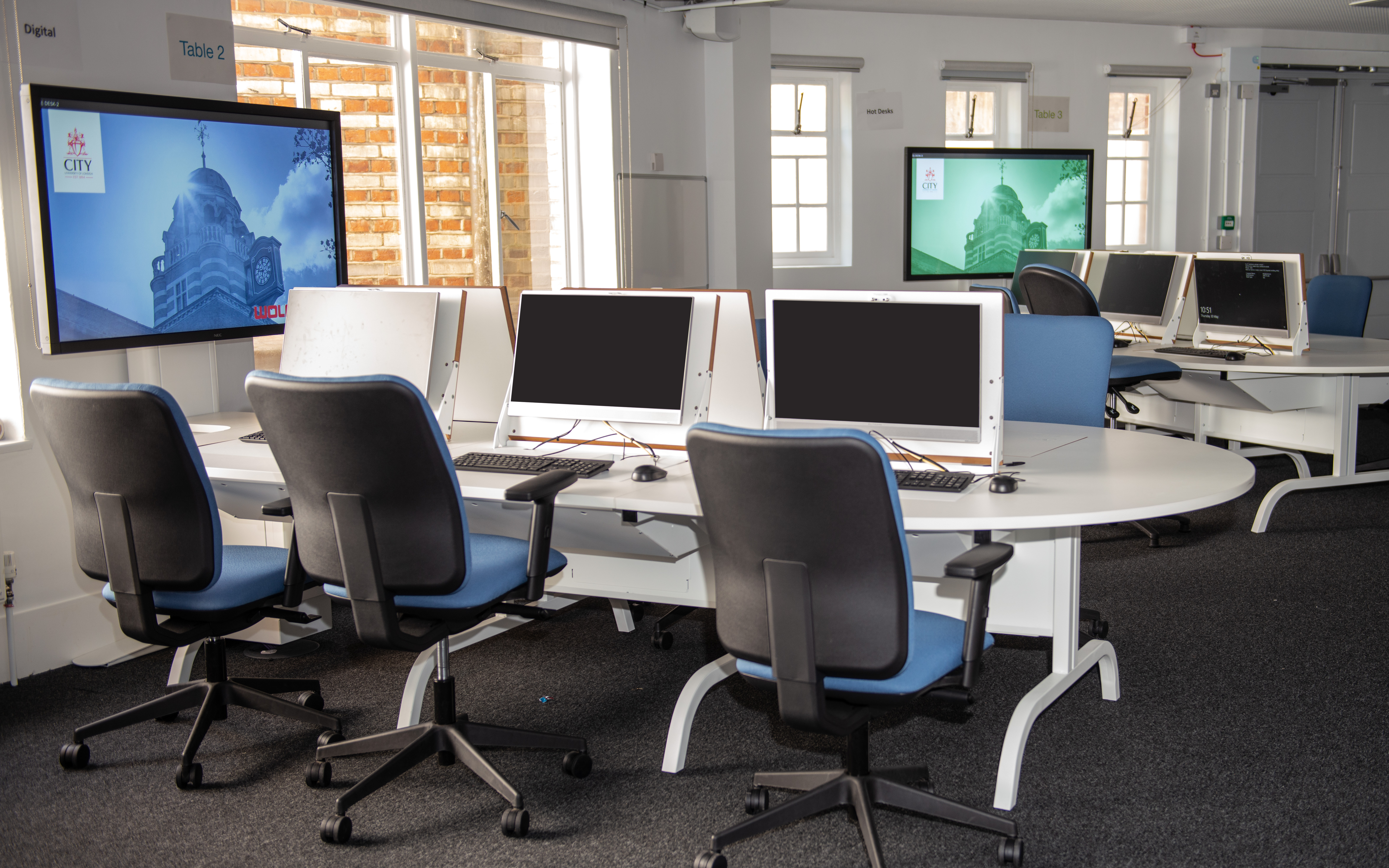WolfVision vSolution MATRIX active learning classroom collaboration system, installed at City, University of London.