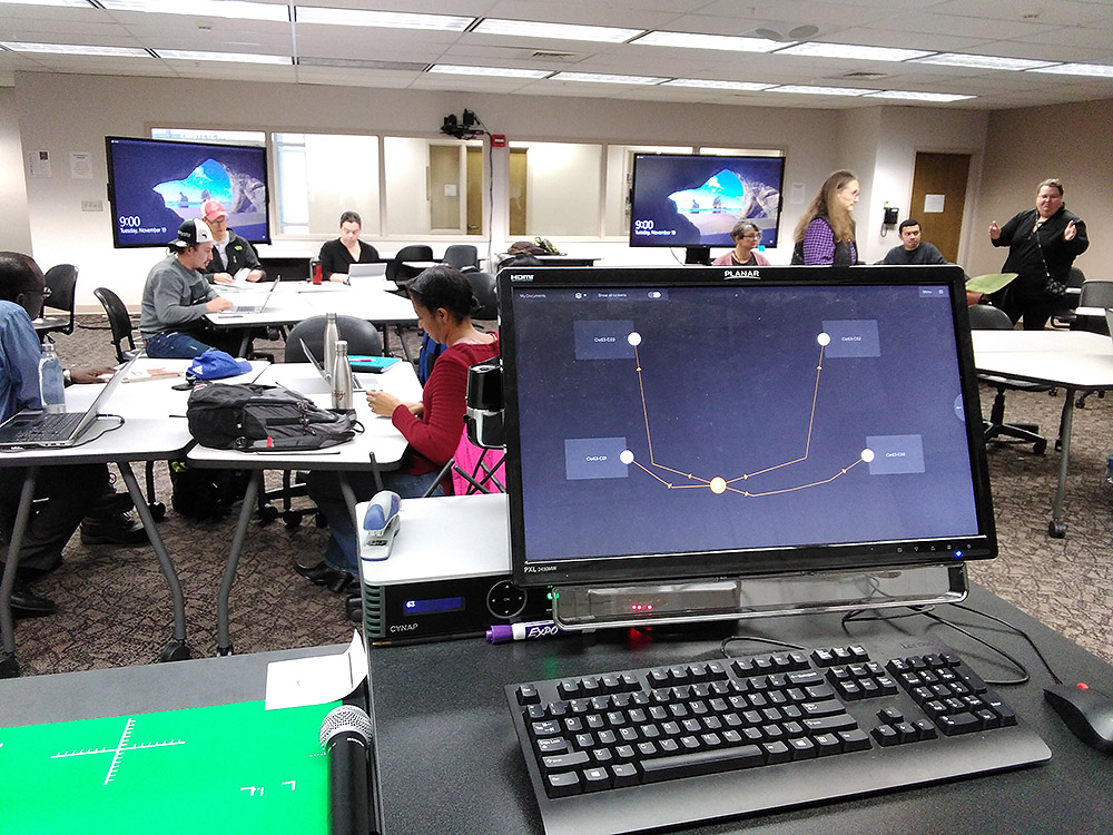 WolfVision vSolution MATRIX active learning classroom collaboration system, installed at WSU, USA.
