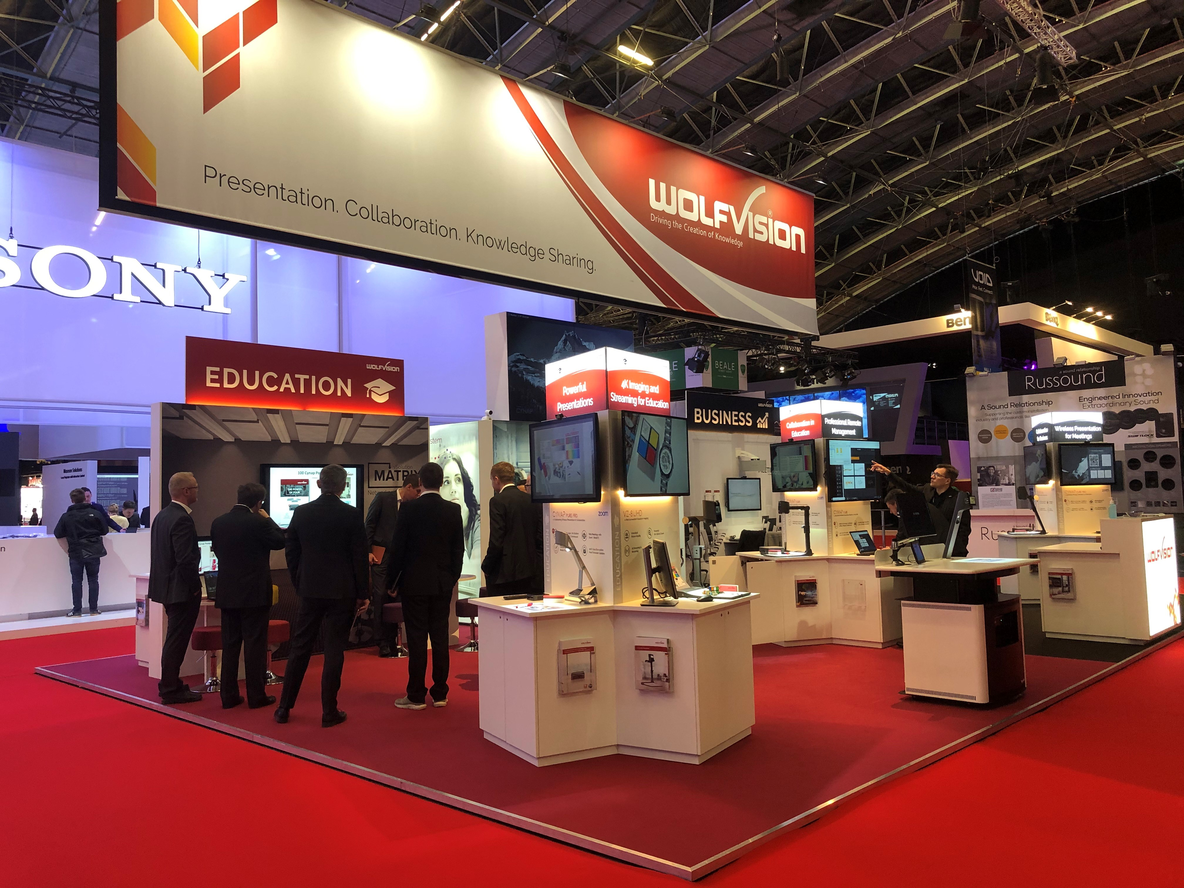 WolfVision Stand 1M20 #ISE2020