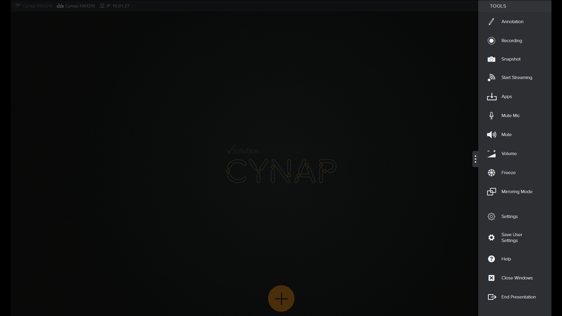 Cynap Toolbox Apps tab.